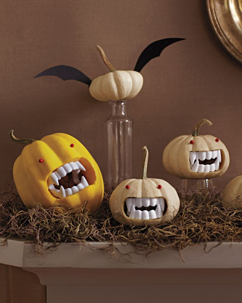 Pumpkins with Fangs