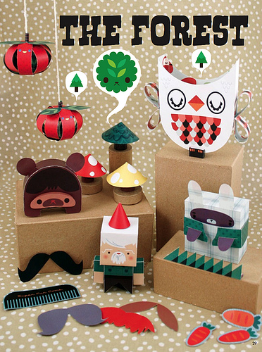Crowded Teeth Forest Paper Toys