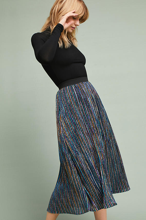 Sparkle Knit Maxi Party Skirt