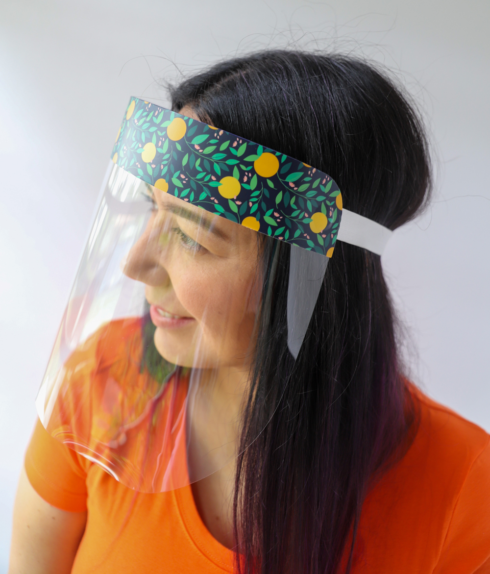 Oranges Plastic Face Shield protects your eyes, mouth, and nose with style and fun